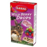 "Sanal ""Wild Berry Drops"" Дропсы для грызунов 45 грамм"