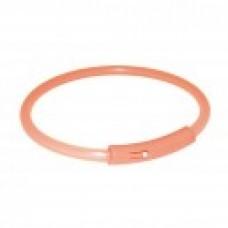 TRIXIE Ошейник для собак, мигающий светящийся, размер XS,25см, оранжевый АРТ. 13390