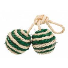 TRIXIE Игрушка для кошки сизалевая в виде мячиков  Арт. 4077