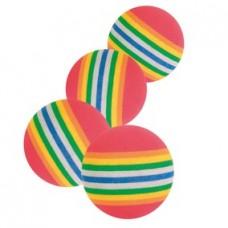 TRIXIE Игрушка для кошки каучукавая, мячик радужный,диам.3,5см АРТ.4097