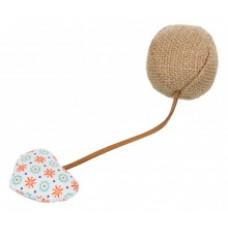 TRIXIE Игрушка для кошки мяч с сердцем д.4,5*18см АРТ.40781