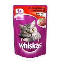 Whiskas Мясной паштет из говядины с печенью 85 гр