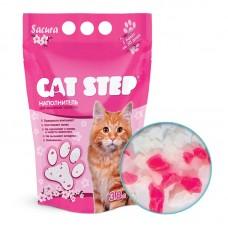 Cat Step 3,8л Наполнитель силикагелевый сакура